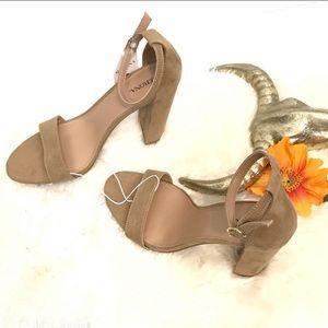 NIB! Merona | Taupe Nude Strap Heel Size 9.5